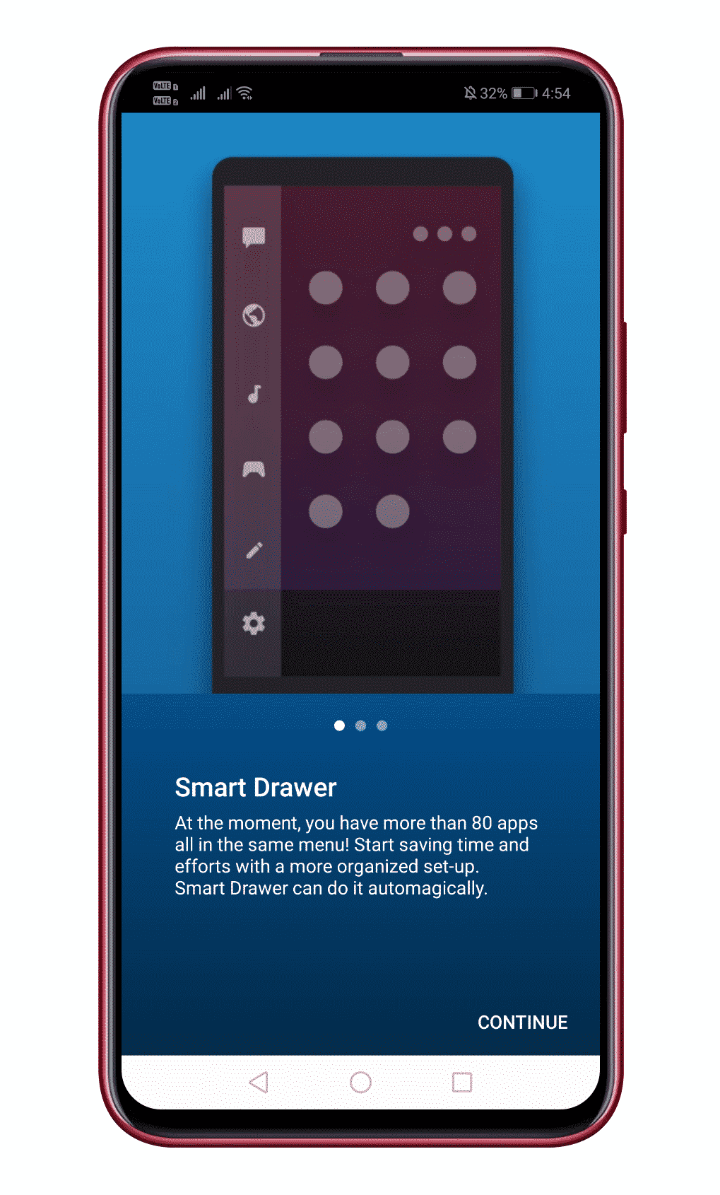 Add Smart Drawer and Get Automatic Sorting Feature On Android