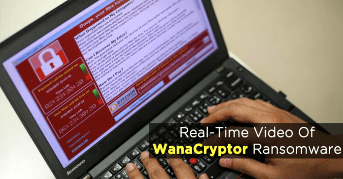 Here's The Real-Time Video Of WanaCryptor Ransomware Spreading On A Machine