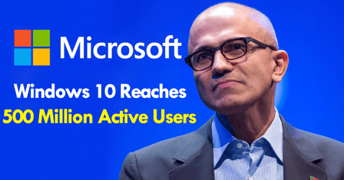 Windows 10 Reaches 500 Million Active Users