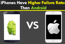 iPhones Have Higher Failure Rates Than Android