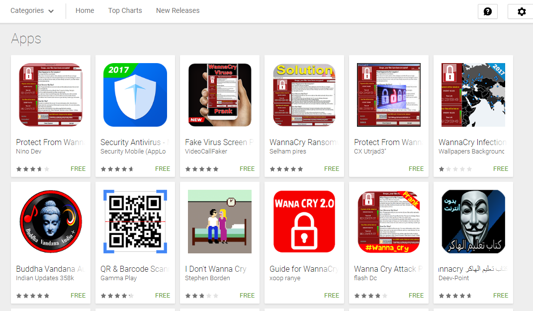 Google Play Store Is Full Of Fake WannaCry Protection Apps!