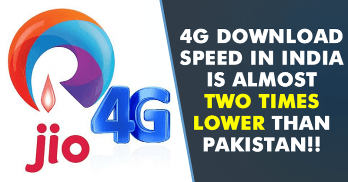 OMG! 4G Download Speed In India Is Two Times Lower Than Pakistan