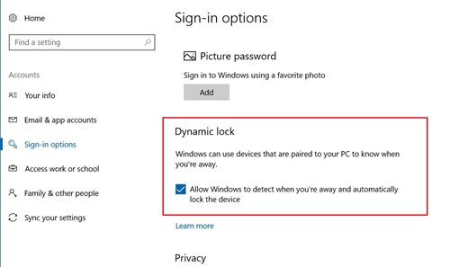 Automatically Lock Windows Pc Using Dynamic Lock