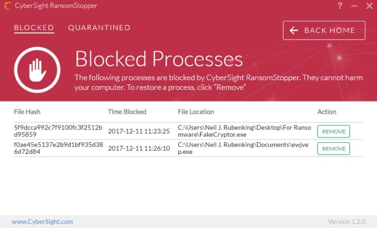 CyberSight RansomStopper - ransomware defender 2018