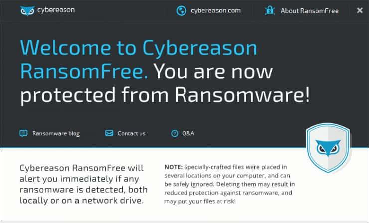 Cybereason Ransom free
