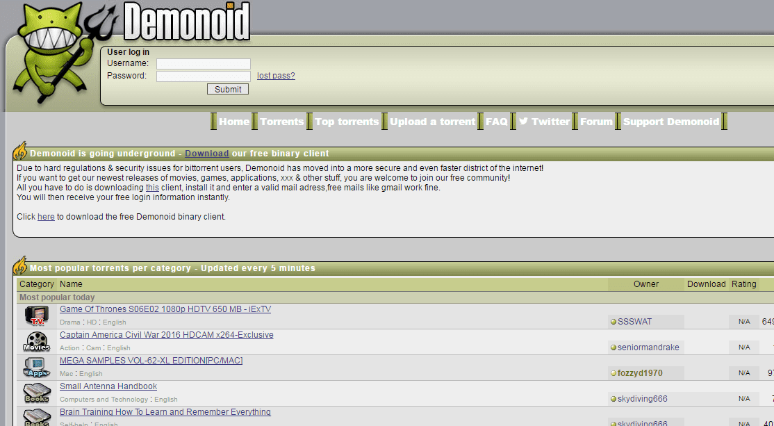 Demonoid.to
