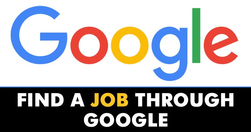Finally! You Can Find A Job Through Google