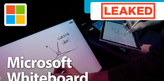 WATCH: Microsoft Whiteboard App Leaked In Video