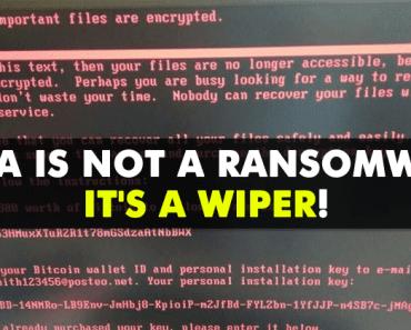 Petya Is Not A Ransomware, It's A Destructive Wiper!