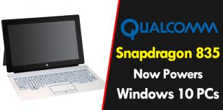 Qualcomm Snapdragon 835 Now Powers Windows 10 PCs