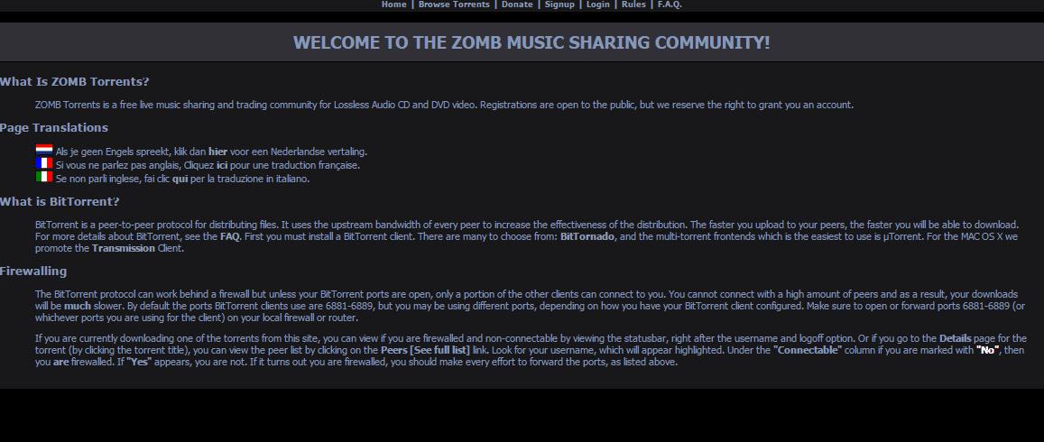 Zomb Torrents