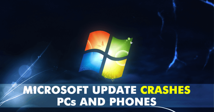 Microsoft Accidentally Releases Faulty Update That Crashes Phones And Computers