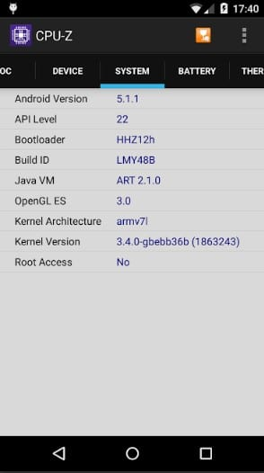 CPU Z 3 - How to Check What Kind of Processor your Android Device Have
