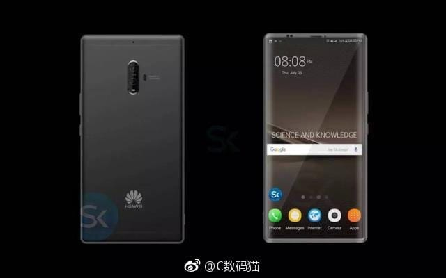 Huawei Mate 10 leak - Huawei Mate 10 Leaks: Reveals Bezel-Less Design and 4 Cameras