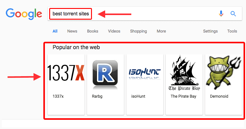 IMG - Google Promoting Best Torrent Sites In Search Results