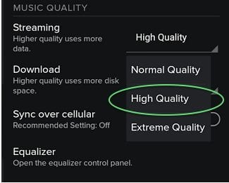 Improve sound quality in streaming music Through Spotify