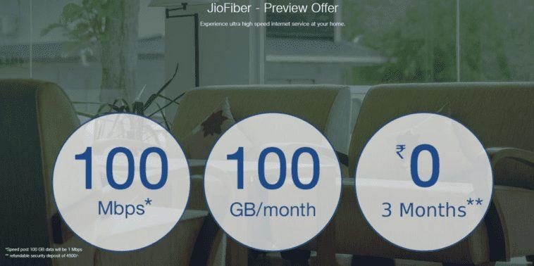 Reliance Jio Website Reveals JioFiber Plans