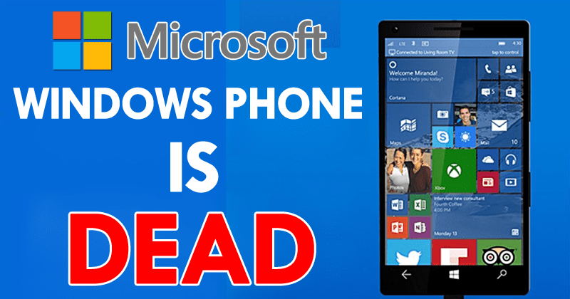 Microsoft Officially Ends All Support For Windows Phone