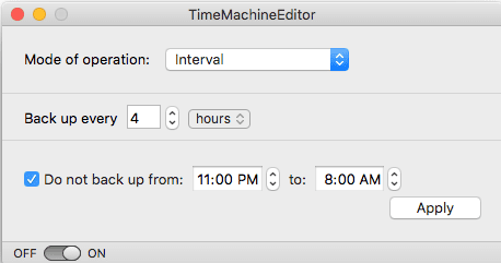 Modify the Time Machine Backup Schedule for Mac