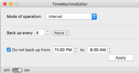schedule time machine backups