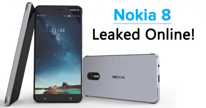 Nokia 8 With Bezel-Less Design, Iris Scanner, USB Type-C Leaked Online!