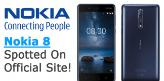Nokia 8 Spotted On Official Site!