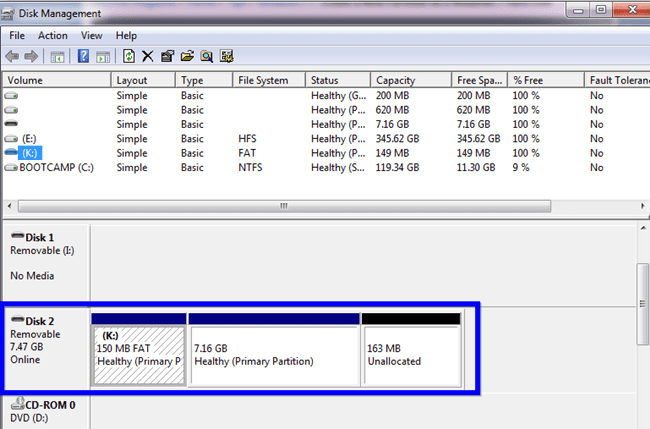 Recover Lost USB Space in Windows