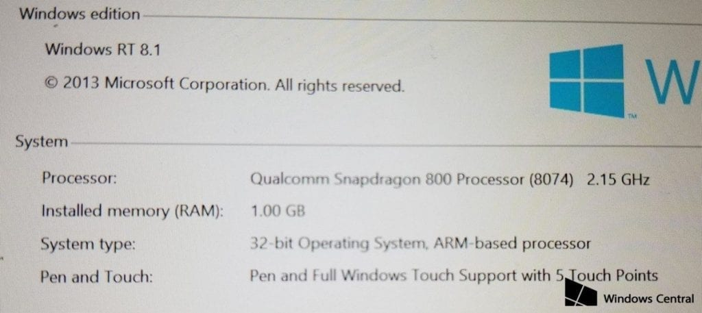 Surface Mini Spec 1024x457 - Microsoft's Surface Mini Photos And Details Have Leaked