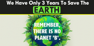 We Have Only Three Years To Save The Earth