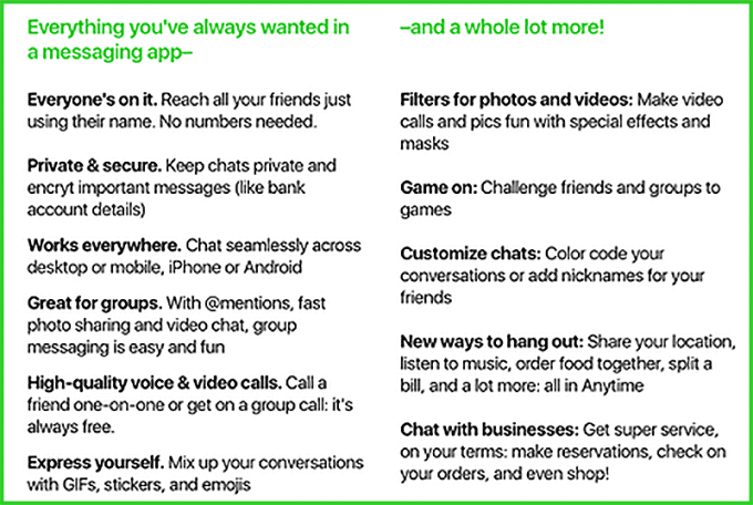amazon anytime chat app feature list - Amazon Secretly Developing A New Messaging App Called Anytime