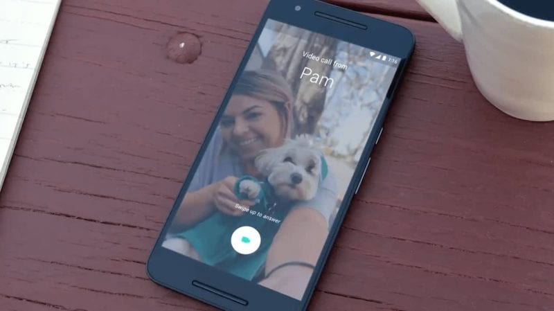 duo in use - Google Duo Crosses A 100 Million Downloads On Google Playstore