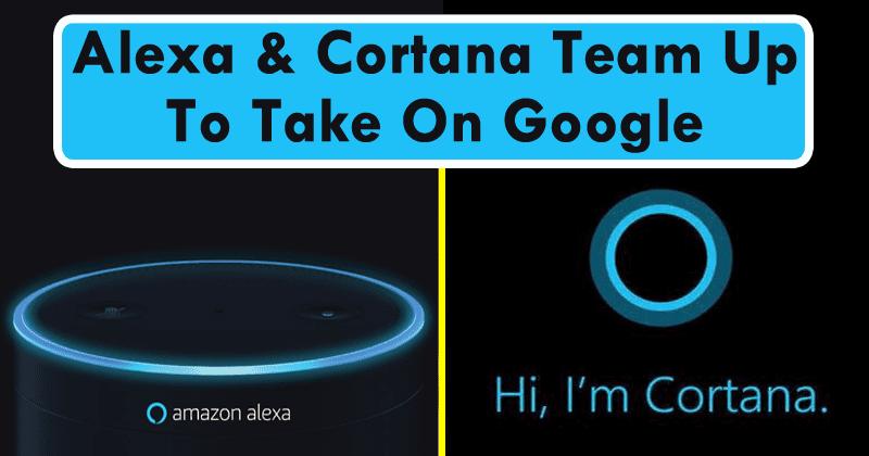 Amazon Alexa & Microsoft Cortana Team Up To Take On Google