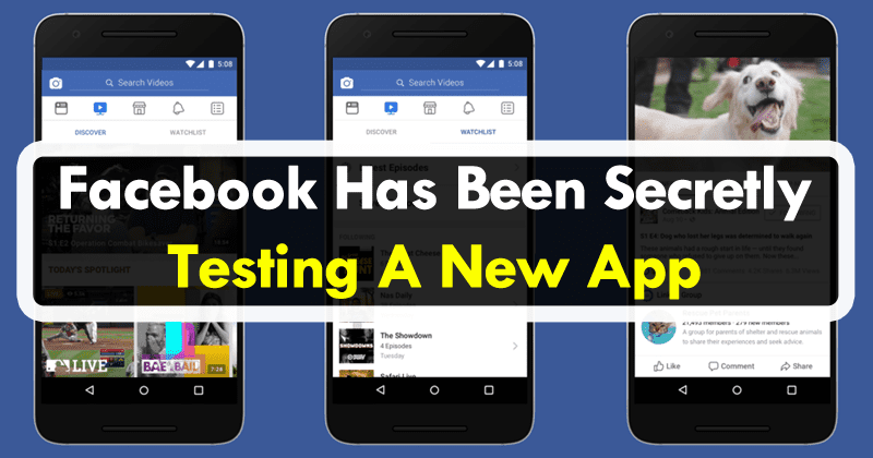 Facebook Has Been Secretly Testing A New Photo Application
