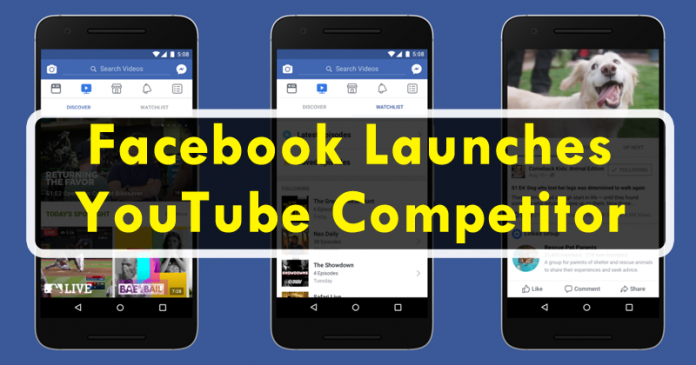 Facebook Launched Its Own Video Service, A Real YouTube Competitor