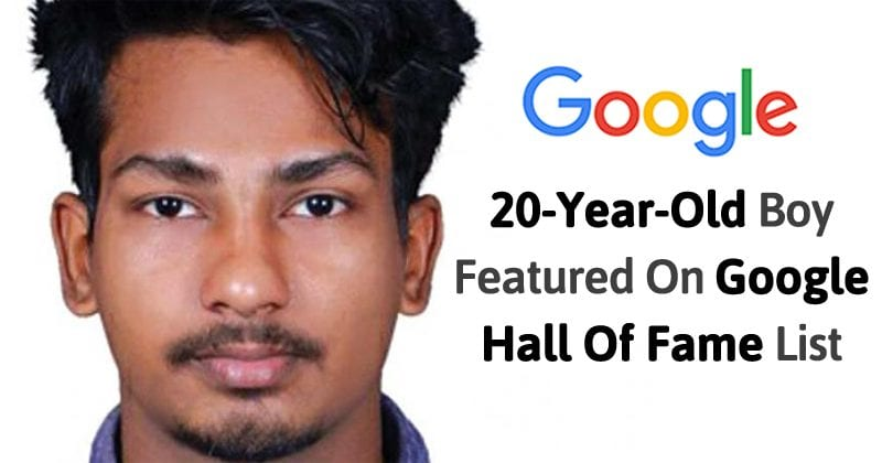 20-Year-Old Boy Featured On Google Hall Of Fame List