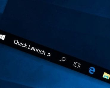How to Get the XP Quick Launch Bar in Windows 10