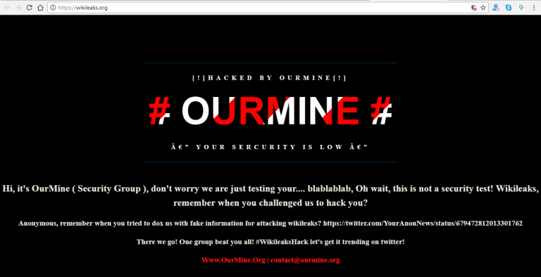 IMG 3 - WikiLeaks Just Got Hacked By Hacking Group OurMine