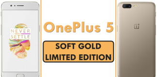 Meet The Limited Edition Soft Gold Variant of the OnePlus 5
