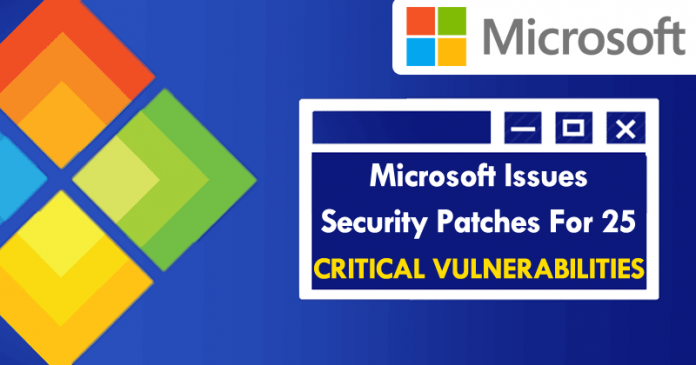 Microsoft Issues Security Patches For 25 Critical Vulnerabilities