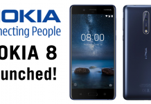Nokia 8 Launched: Snapdragon 835, 4GB RAM & 64GB Internal