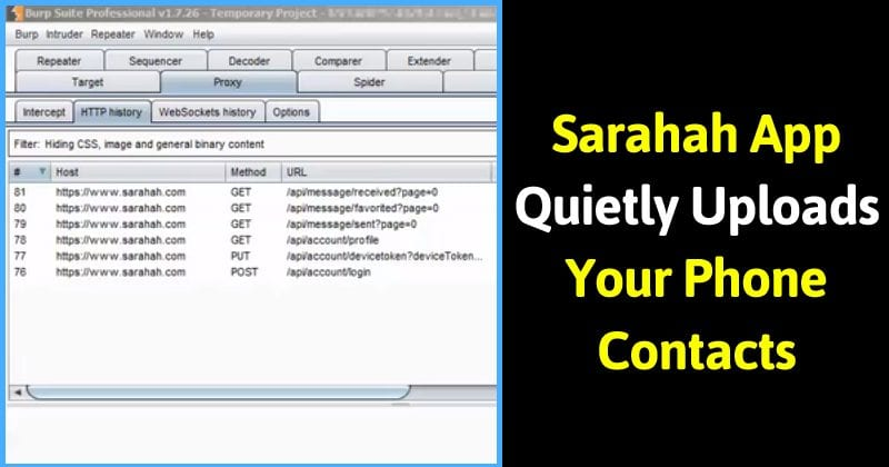 Sarahah App Quietly Uploads Your Phone Contacts