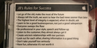 "Read the 11 ""Rules For Success"" Given To An Apple Employee On His 1st Day"