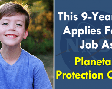 This 9-Year-Old Applies For A Job As Planetary Protection Officer; NASA Replies