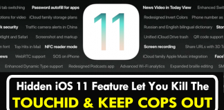 This New iOS 11 Feature Let You Kill The TouchID And Keep Cops Out