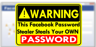 WARNING! This Facebook Password Stealer Steals Your Own Password