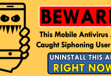 Beware! This Mobile Antivirus App Caught Siphoning User Data