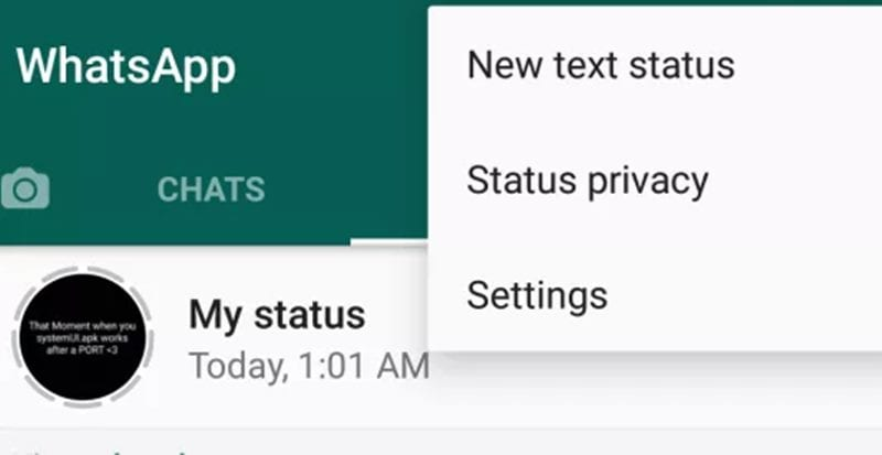 Enable WhatsApp Text Status Feature on Android