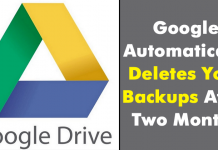 Google Automatically Deletes Your Backups After Two Months