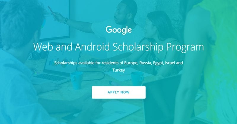 Google Is Offering Free Web And Android Scholarships
