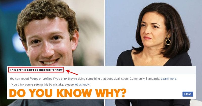 Here's Why You Can't Block Mark Zuckerberg, Priscilla Chan & Sheryl Sandberg On Facebook